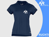 TV Are You Ready - Dames Polo Donkerblauw - Wit